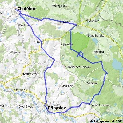 Přibyslav - Chotěboř - Račín - Přibyslav
