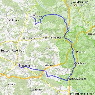 Thansüß -  Freihung - Pfreimd - Schwarzenfeld - Amberg