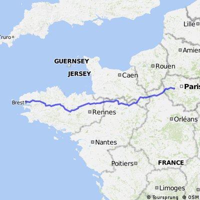 Paris-Brest-Paris — Aller