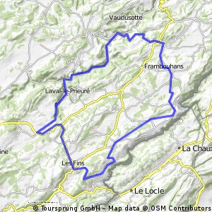Boucle Villers-le-Lac  -  Cirque de la Consolation  -  Villers-le-Lac