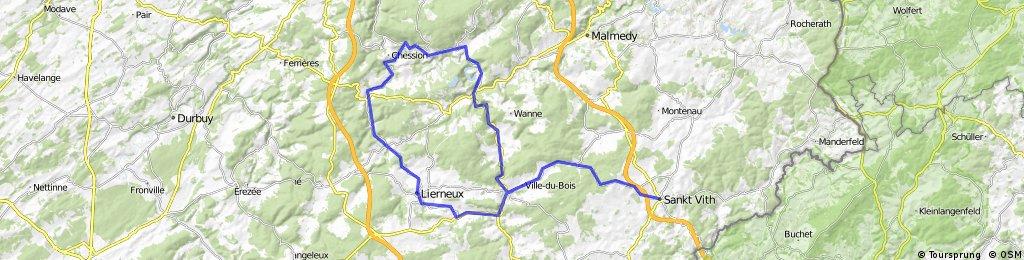 St Vith - Vielsalm - Trois Ponts - Stoumont - Lierneux - St