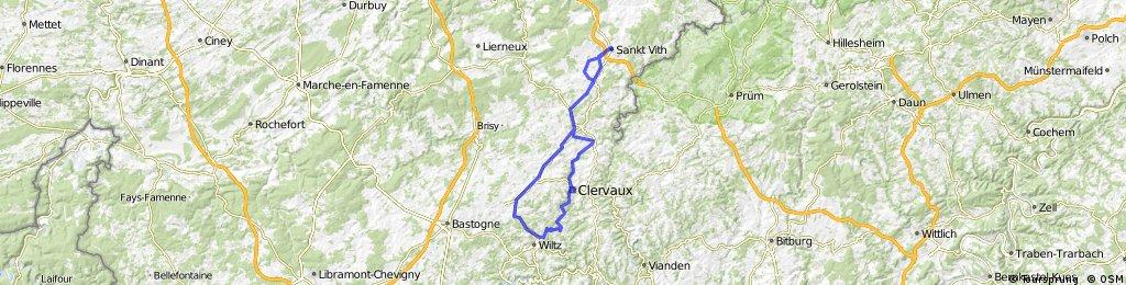St.Vith - Espeler - Trois Vierges - Erpeldange - Wilwerwiltz - Weiswampach - Espeler - Neundorf  - St.Vith
