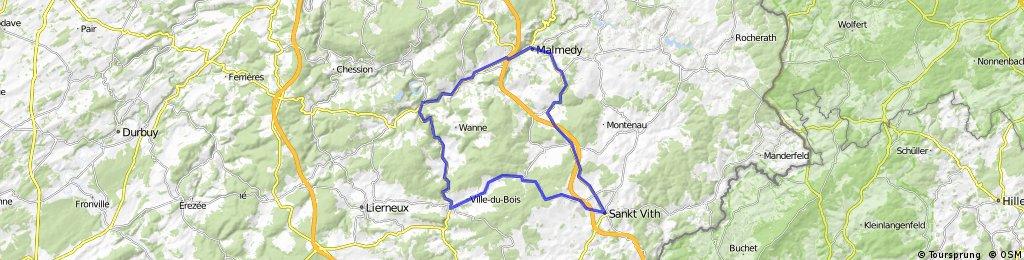 St.Vith - Malmedy - Stavelot - Trois Ponts - Vielsalm - ST.Vith