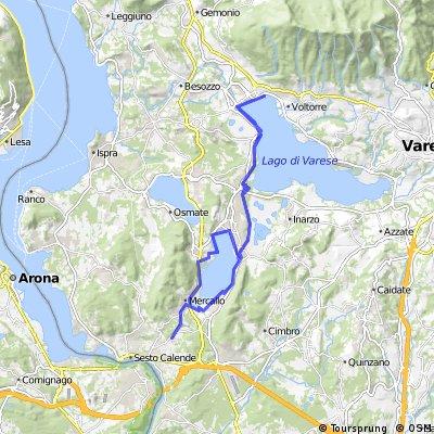 Giro sui laghi di Comabbio e Varese