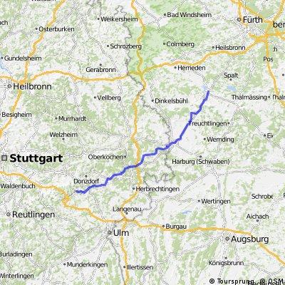 Gunzenhausen nach Reichenbach im Täle