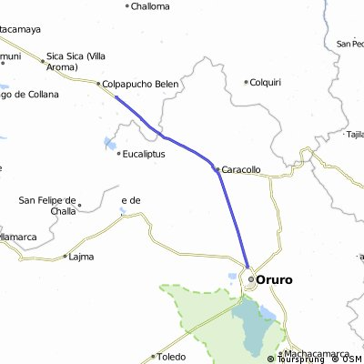 Municipio Oruro - Municipio Sica Sica