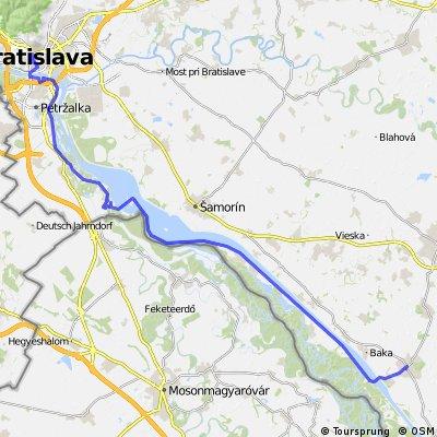 Donauradweg TOM 12 Gabčíkovo_Bratislava