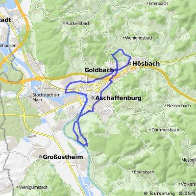 Rundweg Obernau Goldbach Hösbach Damm Mainweg