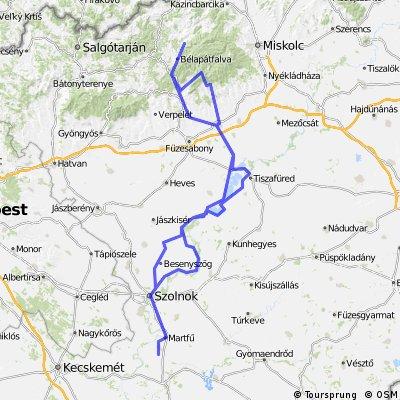 Homok-Felsőtárkány-Szilvásvárad-Eger-Tisza-tó-Homok