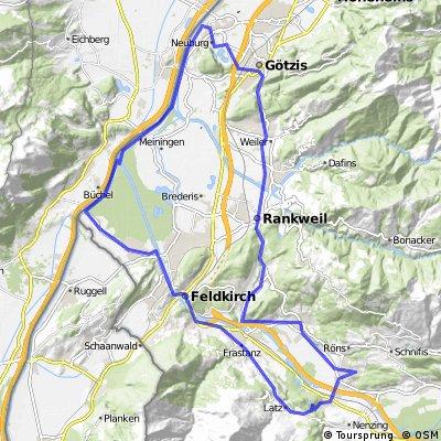 Gampelün - Latz  460hm