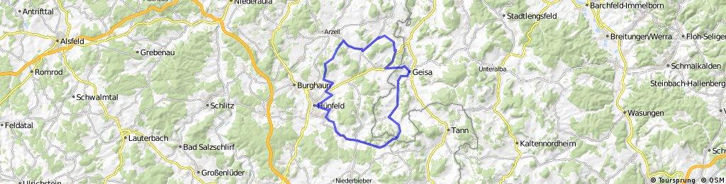 Rennradstrecke 60 km