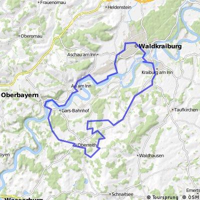 Kraiburg - Oberreit - Gars - Au - Waldkraiburg - Kraiburg