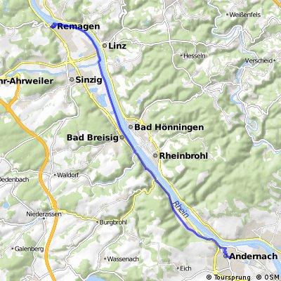 Remagen Bf - Rhein - Andernach Bf.gpx