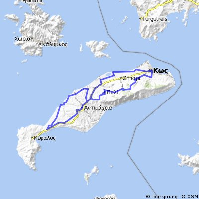 Cycling routes and bike maps in and around Kos | Bikemap - Your bike ...