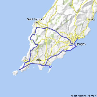 IoM Cyclist route