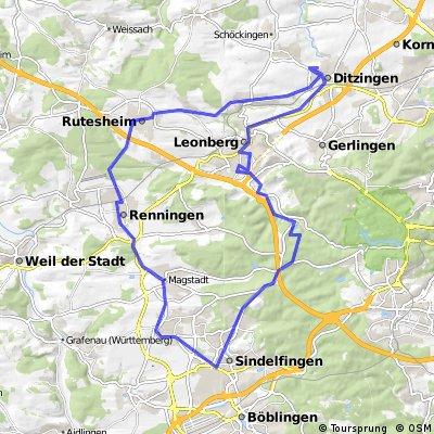 Leonberg, Glemseck, Sindelfingen, Ditzingen Tour 2009