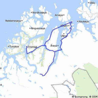 Tromsø - Skjervøy - Nord-Lenangen - Nordkjosbotn