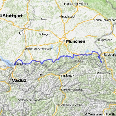 Radtour Königssee - Bodensee