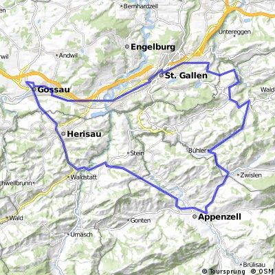 Gossau, St. Gallen, Speicher, Trogen, Bühler, Appenzell, Hundwil, Herisau, Gossau