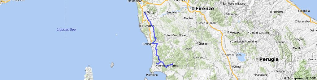 Cycling the Tuscan Coast - variant