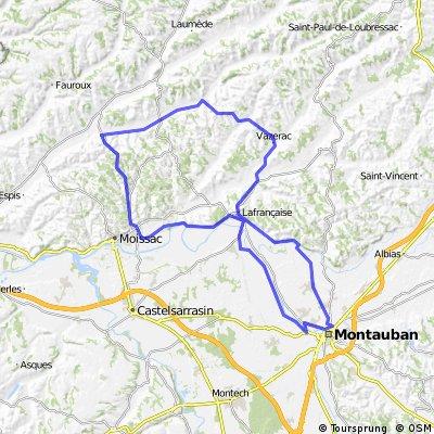 Ronde 92 km Montauban - 480 hm