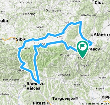 Brasov - Prejmer - Augustin - Racos - Hoghiz - Fagaras - Abatia Carta - Bruckenthal Avrig - Valea Oltului - Curtea de Arges - Vidraru - Balea Lac - Victoria - O