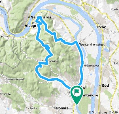 Szendre-Paprét-Visegrád-Tahitotfalu-Szendre