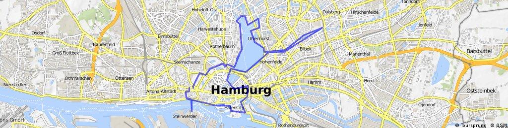HH-Alster-/Hafenrundfahrt