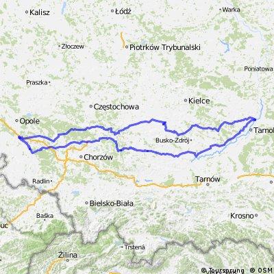 Krapkowice - Sandomierz - Krapkowice