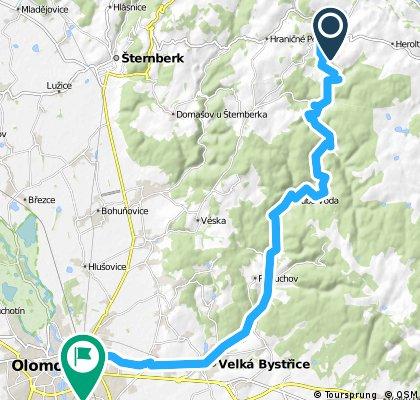 Cyklovýlet údolím Bystřice u Olomouce