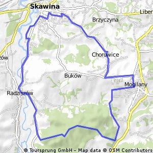 23H-Skawina-Radziszów-Mogilany-Chorowice-Skawina