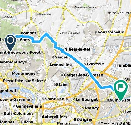 Montlignon CGR Sevran via Piscop N390 25,8km h290m