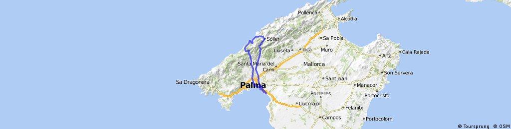 Can Pastilla - Col Soller - Deia - Valdemossa- Palma - Can Pastilla