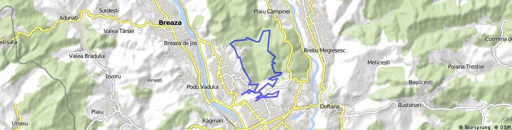 Campina Open MTB 2015 / traseul parcurs - tura scurta