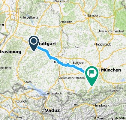 Stuttgart --> Starnberg