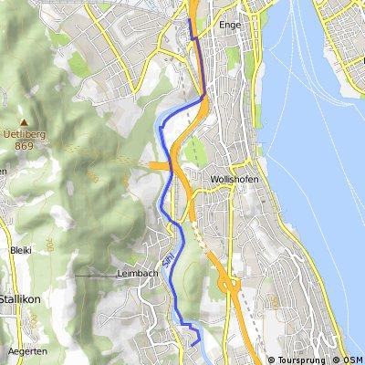 Wolframplatz (Vision Apts) to Adliswil (Sood-Oberleimbach)