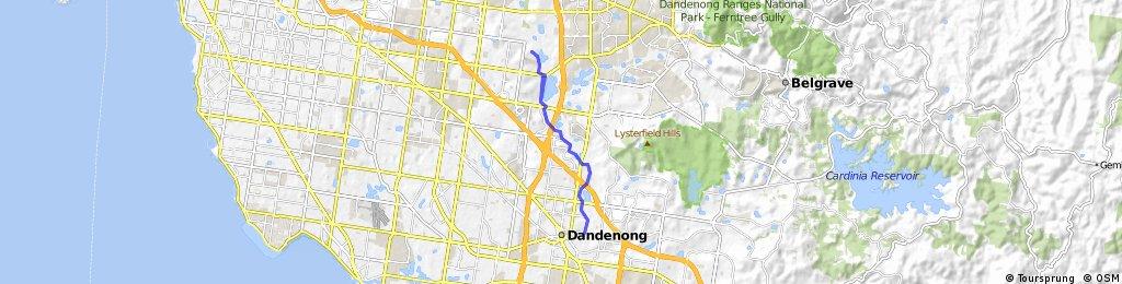 Dandenong to Jells park (via dandenong creek trail)