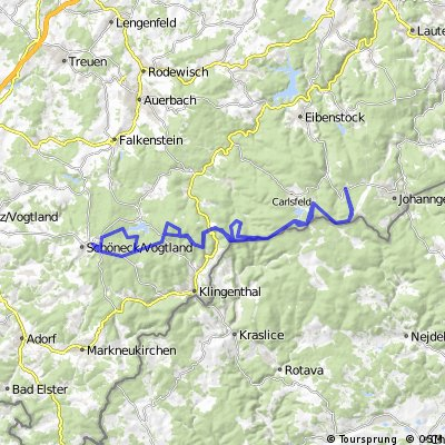 ADFC-Hof: Tour von Schöneck zur Sauschwemme