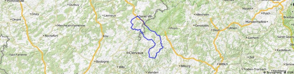 St.Vith - Winterspelt - Pronsfeld - Neuerburg - Arzfeld - Üttfeld - Lützkampen - Oudler - Grüfflingen - Crombach - St.Vith