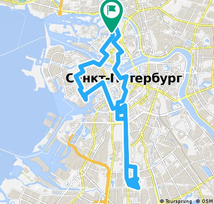 Каменный остров -- Московский Парк Победы (и обратно)