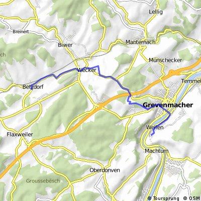 Betzdorf (Charly) bis Wellen 11km