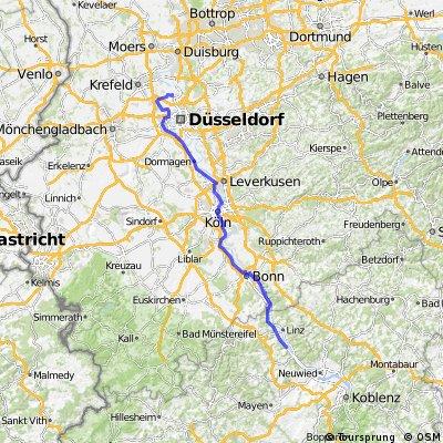 Route RV Opel on Tour 2008 Etappe 2 Bad Breisig - Kaiserswerth