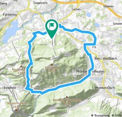 Rund um Edelsberg und Alpspitz