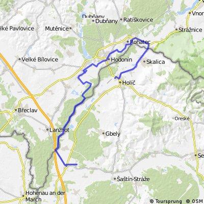 Popri rieke Morave -Kúty-Hodonín-Skalica-Holíč