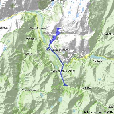 Les Gauchoirs - Alpe d'Huez and back