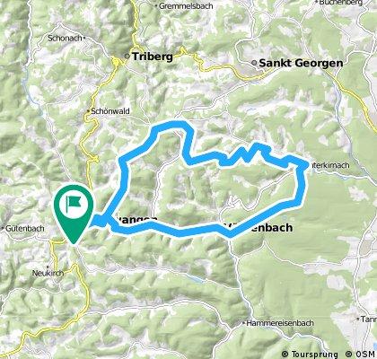 Furtwangen, Vöhrenbach, Unterkirnach, Stöcklewaldturm, Schönenbach