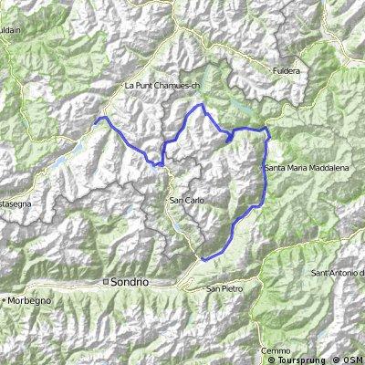 St. Moritz - Livigno - Bormio - Tirano