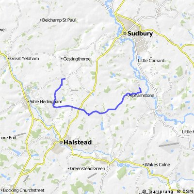 Great Maplestead to Lamash