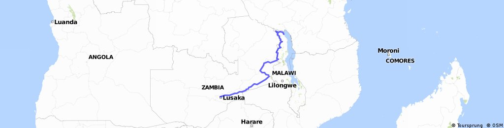 L to L Tour 2015 Karonga to Lusaka