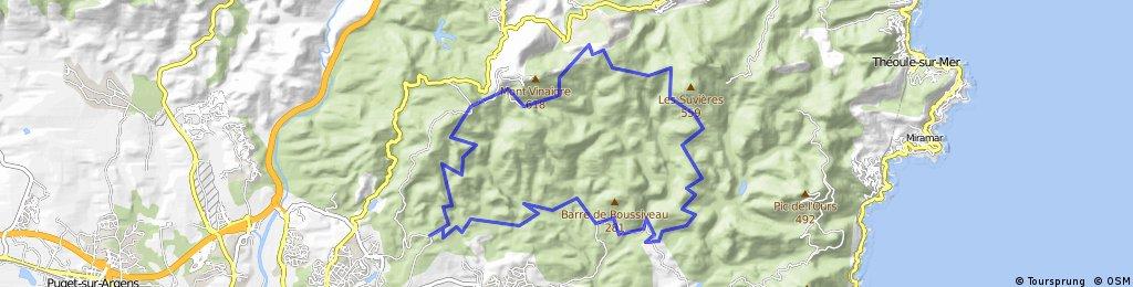 Tour du massif de l'Esterel